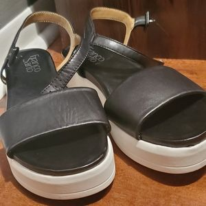 Strap shoes comfortable black and white not used